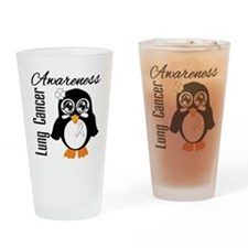 Penguin Cancer Awareness Drinking Glass