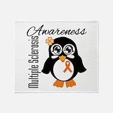 Penguin Multiple Sclerosis Throw Blanket