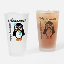 Penguin PKD Awareness Drinking Glass