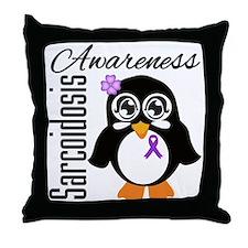 Penguin Sarcoidosis Throw Pillow