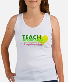 Teach Abstinance Women's Tank Top