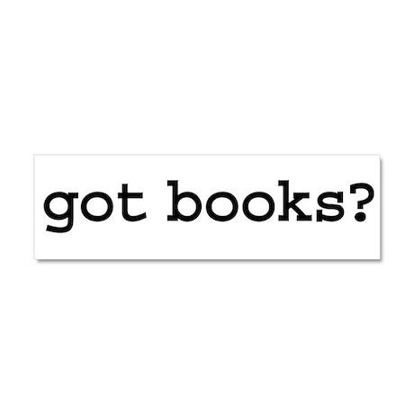 got books? Car Magnet 10 x 3