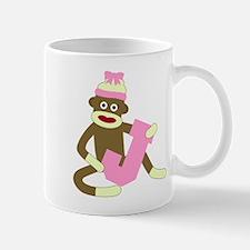 Sock Monkey Monogram Girl J Coffee Mug