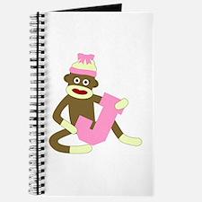Sock Monkey Monogram Girl J Journal