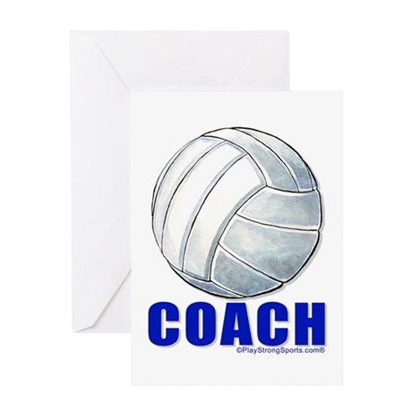 Volleyball Coach Greeting Card