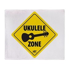 Ukulele Zone Throw Blanket