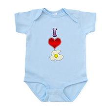 I heart eggs Infant Bodysuit