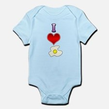 I heart eggs Infant Bodysuit