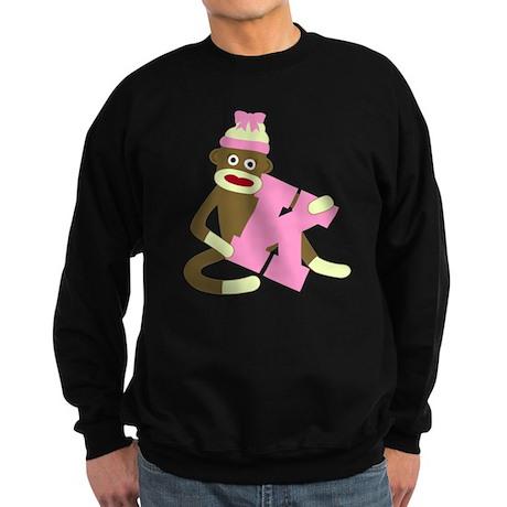 Sock Monkey Monogram Girl K Sweatshirt (dark)