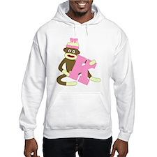 Sock Monkey Monogram Girl K Hoodie