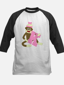 Sock Monkey Monogram Girl K Tee