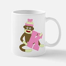 Sock Monkey Monogram Girl K Coffee Mug