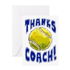 Thanks Coach Tennis Greeting Card