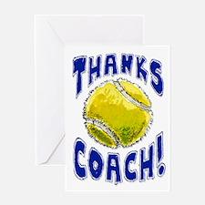 Thanks Coach Tennis Greeting Card