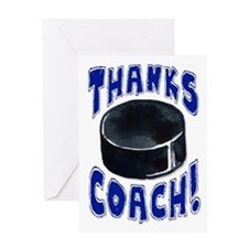 Thanks Coach! Hockey Greeting Card