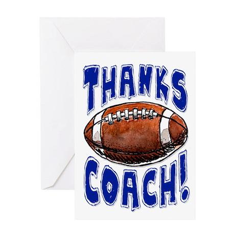 Thanks Coach! Football Greeting Card