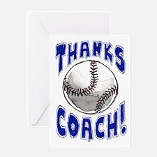 Thanks Coach! Baseball Greeting Card