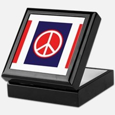 Red&Blue Peace Symbol Keepsake Box