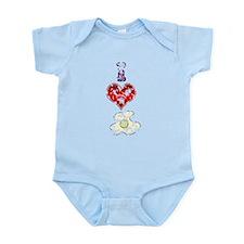 Vintage I Heart Eggs Infant Bodysuit