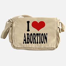 I Love Abortion Messenger Bag