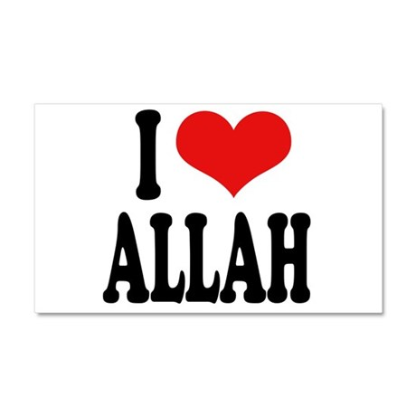 I Love Allah Car Magnet 20 x 12