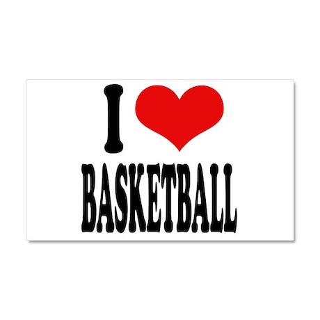 I Love Basketball Car Magnet 20 x 12