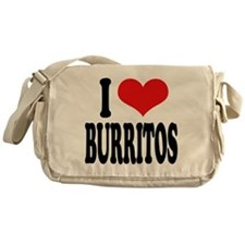 I Love Burritos Messenger Bag