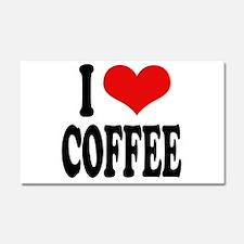 I Love Coffee Car Magnet 20 x 12