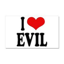 I Love Evil Car Magnet 20 x 12