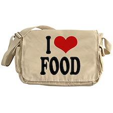 I Love Food Messenger Bag