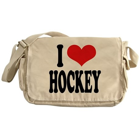 I Love Hockey Messenger Bag