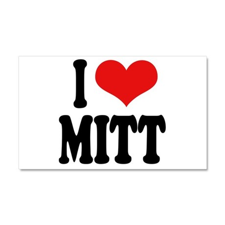 I Love Mitt Car Magnet 20 x 12