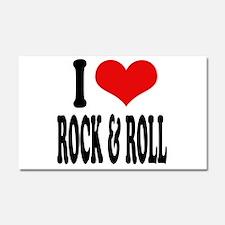 I Love Rock & Roll Car Magnet 20 x 12