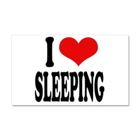 I Love Sleeping Car Magnet 20 x 12
