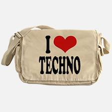 I Love Techno Messenger Bag