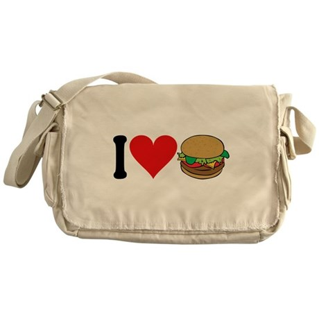 I Love Hamburgers (design) Messenger Bag