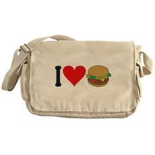 I Love Hamburgers (design) Messenger Bag