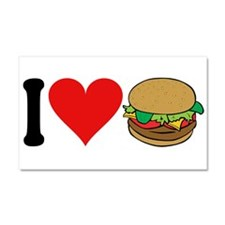 I Love Hamburgers (design) Car Magnet 20 x 12