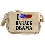 I Love Barack Obama Messenger Bag