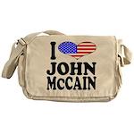I Love John McCain Messenger Bag