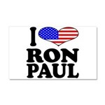 I Love Ron Paul Car Magnet 20 x 12