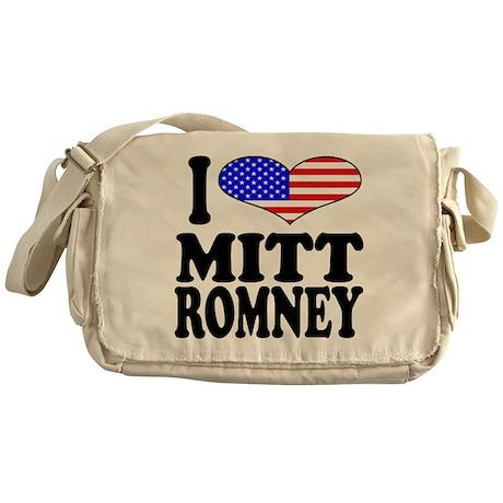 I Love Mitt Romney Messenger Bag