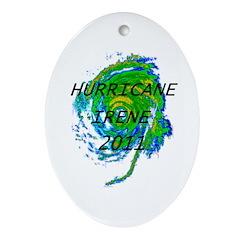 Hurricane Irene Ornament (Oval)