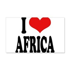 I Love Africa 22x14 Wall Peel