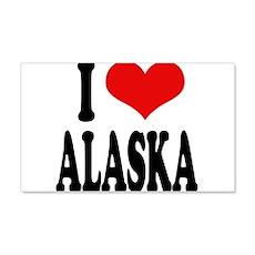 I Love Alaska 22x14 Wall Peel