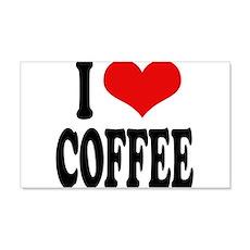 I Love Coffee 22x14 Wall Peel