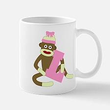 Sock Monkey Monogram Girl L Coffee Mug