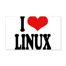 I Love Linux 22x14 Wall Peel