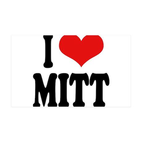 I Love Mitt 38.5 x 24.5 Wall Peel