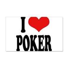 I Love Poker 22x14 Wall Peel